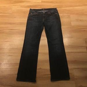 7FAMK Dark Wash Bootcut Jean